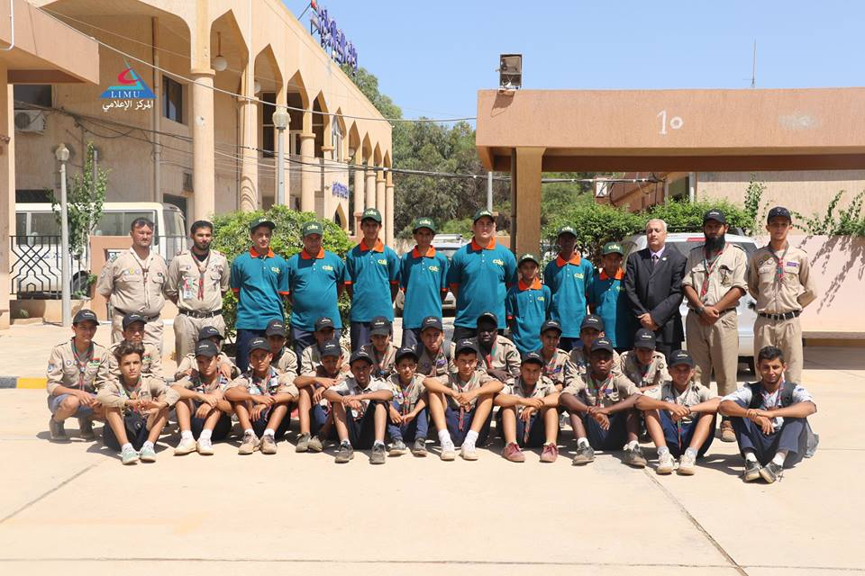 Boys Scout Movement visit the University