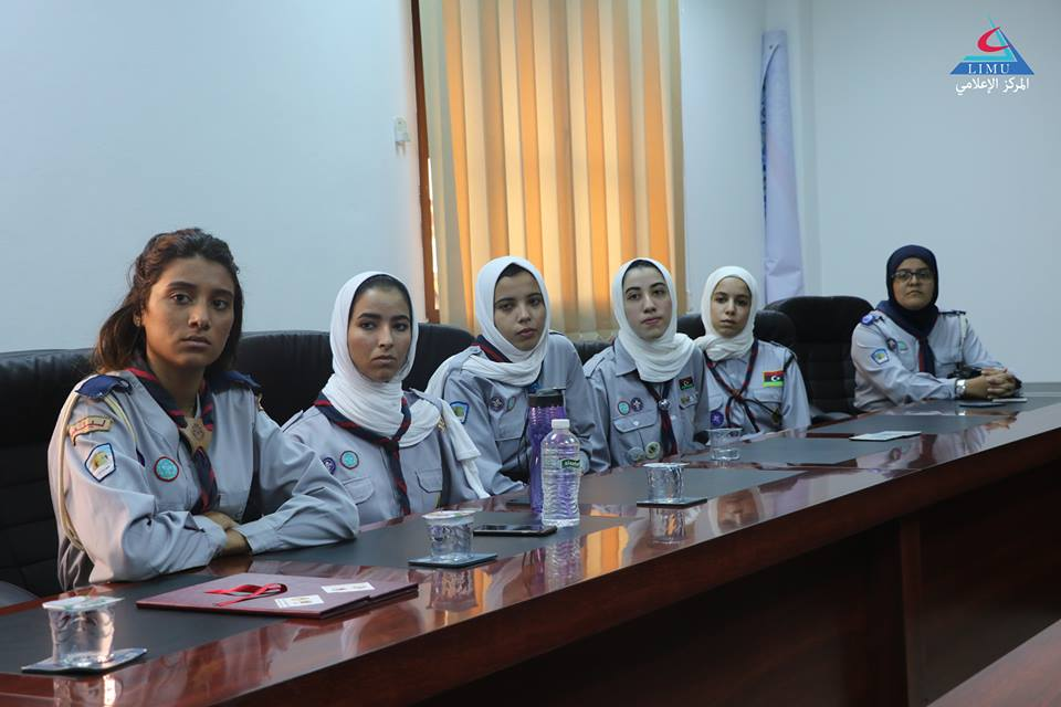 University hosts the firstteam of university girls Scout Movement