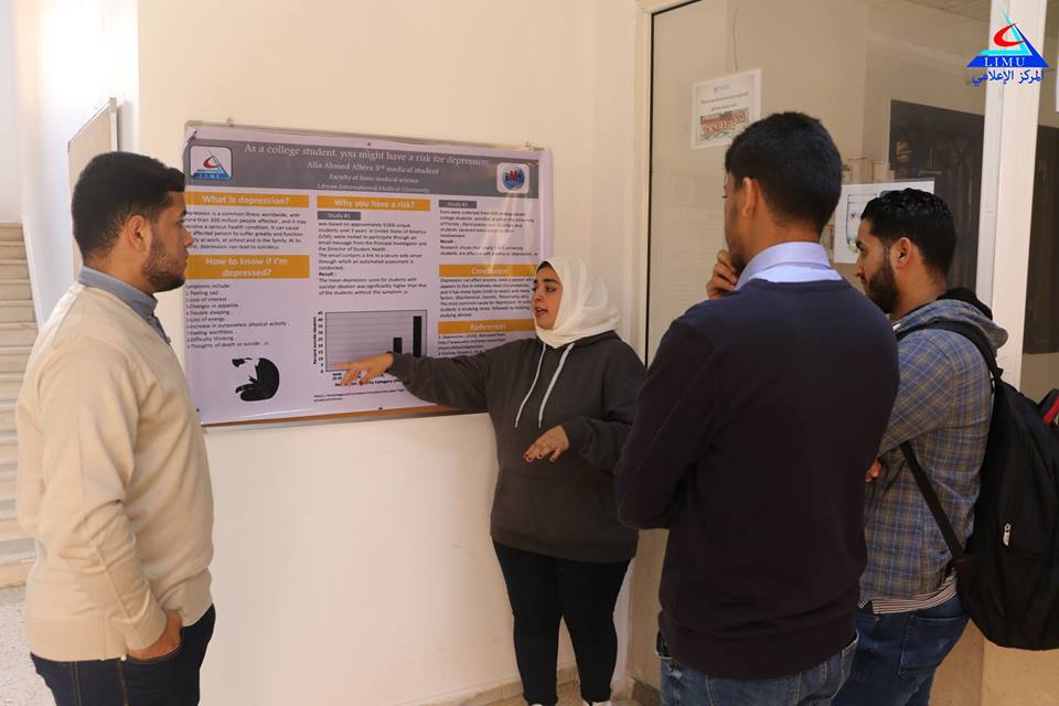 BMS Faculty Third year students discuss their scientific posters