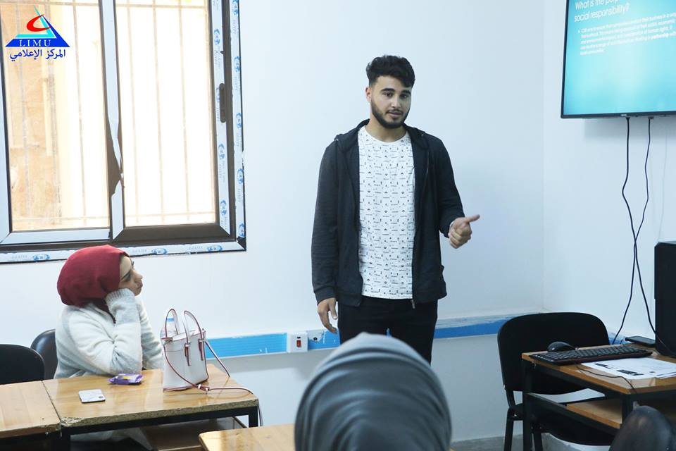 Faculty Of Business Administration Students In A Visual Presentations Session