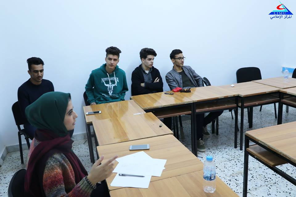 Faculty of Business Administration Students in a session for visual presentations