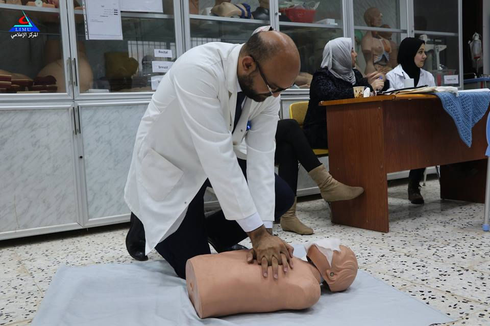 Fourth Year Medical Students Take An OSCE Exam