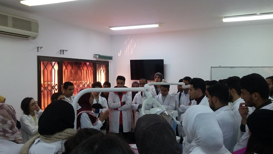 second year BMS students take a trip to LIMU's dental clinical training center